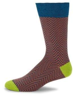 Saks Fifth Avenue Mercerized Herringbone Mid-Calf Socks