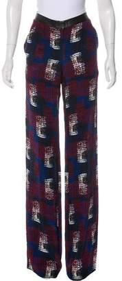 Jenni Kayne Mid-Rise Chevron Print Pants