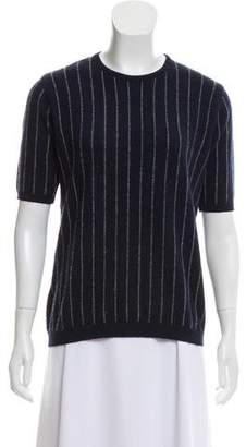 4da6605083bf Brunello Cucinelli Short Sleeve Cashmere Sweater