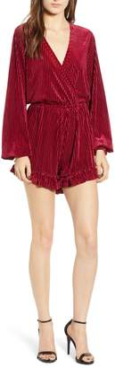 The Fifth Label Adore Shadow Stripe Velvet Romper