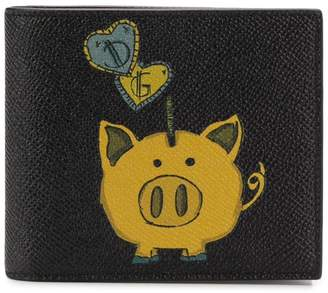 Dolce & Gabbana pig print wallet