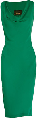 Vivienne Westwood Anglomania - Virginia Draped Georgette Dress - Green