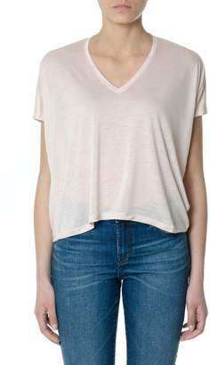 Acne Studios Pink Blush Kileo Tencel T-shirt