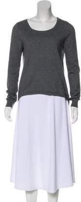 Michael Kors High-Low Knit Top