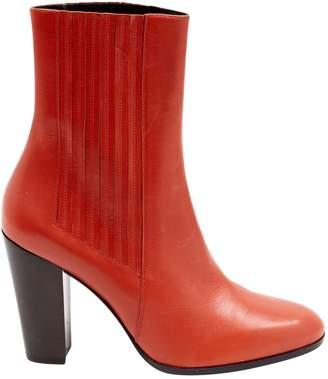 Saint Laurent Pink Leather Ankle boots