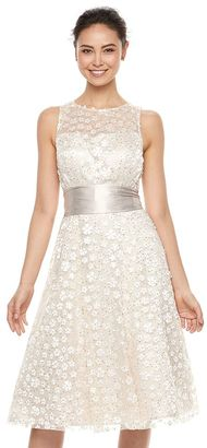 Women's Jessica Howard Embellished Floral Fit & Flare Dress $270 thestylecure.com