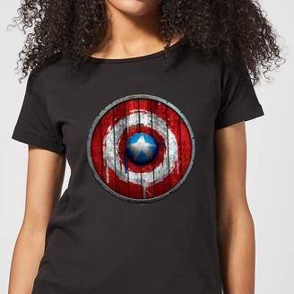 Marvel Captain America Wooden Shield Women's T-Shirt
