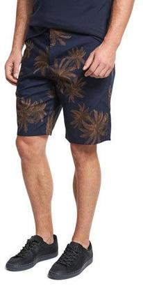 Vince Leaf-Print Chino Shorts, Navy $185 thestylecure.com
