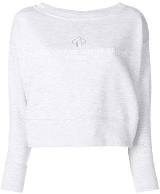 Golden Goose cropped logo sweatshirt