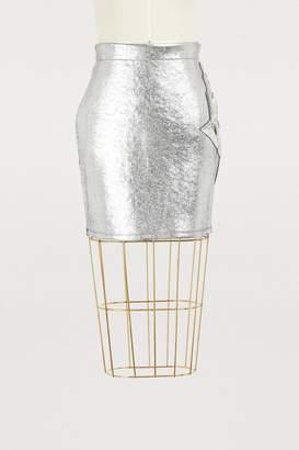 Balmain Metallic mini skirt