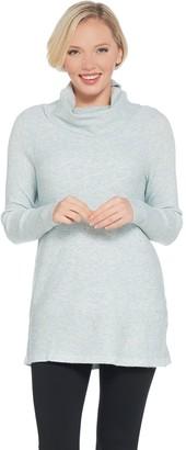 Denim & Co. Studio by Heathered Turtleneck Long Sleeve Sweater