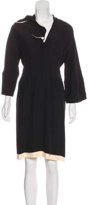Marni Long Sleeve Silk Dress