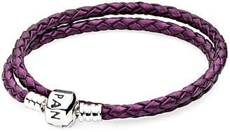 Pandora Silver Leather Bracelet