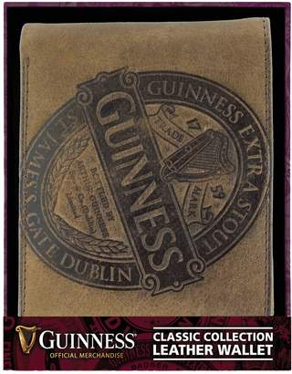 Guinness Official Merchandise Leather Wallet With Classic Collection Label Design