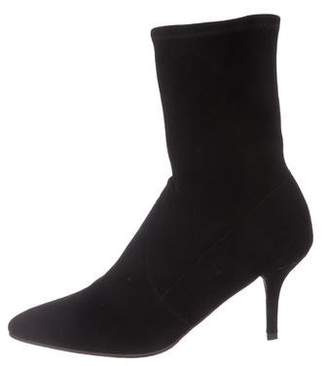 Stuart Weitzman Cling Pointed-Toe Ankle Boots