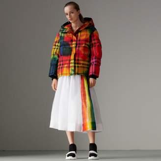 Burberry Rainbow Print Organdie Cotton Skirt