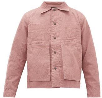 Craig Green Embroidered Puckered Canvas Jacket - Mens - Pink