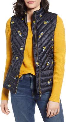 Joules Brindley Floral Quilted Vest