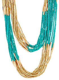 Linea by Louis Dell'Olio Multi Strand Long BeadNecklace