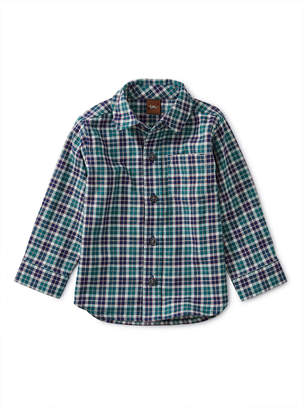 Tea Collection Patterned Button Up Baby Shirt