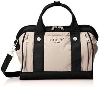 Anello (アネロ) - [アネロ] ショルダーバッグ コットンナイロン風口金2WAYミニショルダー AP-H1453 LGY ライトグレー