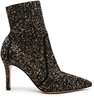 Gianvito Rossi Boucle Knit Katie Ankle Booties