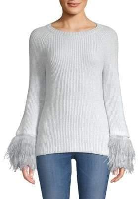 TSE x SFA Mongolian Fur Cuff Sweater