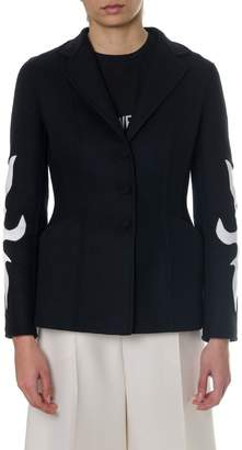 Christian Dior Wool Blazer With White Decoration
