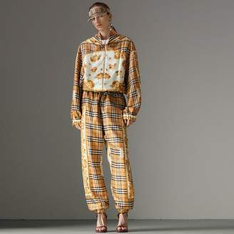 Burberry Vintage Check and Archive Scarf Print Jumpsuit , Size: 08