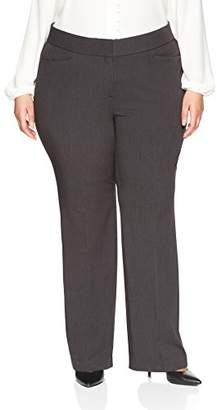 Lark & Ro Women's Plus Size Bootcut Trouser Pant: Curvy Fit