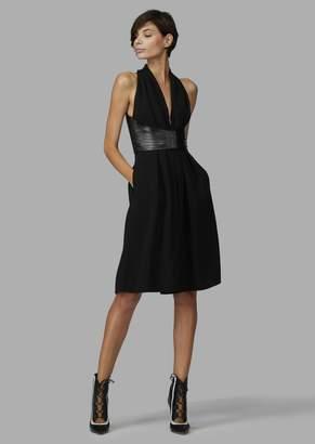 Giorgio Armani Pure Silk Dress With Removable Bodice