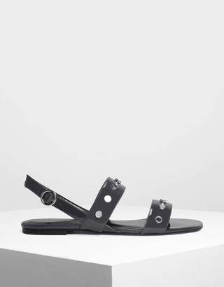 Charles & Keith Studded Slingback Sandals