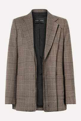 Proenza Schouler Oversized Layered Checked Wool-blend Blazer - Brown