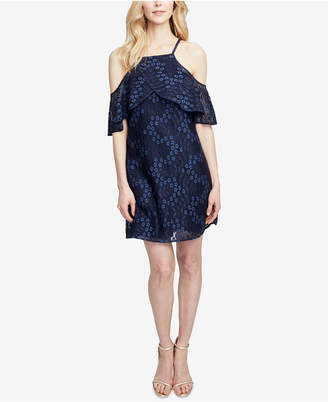 Rachel Roy Cold-Shoulder Lace Swing Dress
