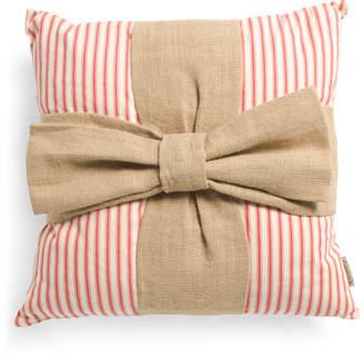 21x21 Burlap Bow Pillow