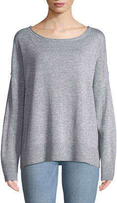 NYDJ Drop-Shoulder Pullover Sweater