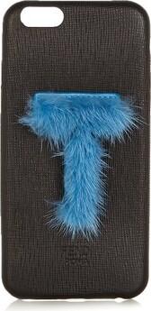 Fendi Leather Iphone 6 Case - Womens - Black Blue