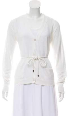 Max Mara Linen-Blend Button-Up Cardigan