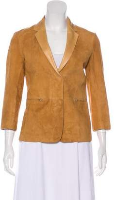 The Row Snap Suede Jacket