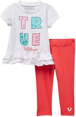 True Religion Ruffle Set (Baby Girls)