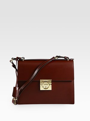 Salvatore Ferragamo Marisol Lock Shoulder Bag