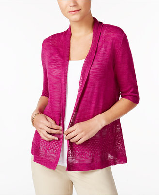 Charter Club Crochet-Trim Open-Front Cardigan, Only at Macy's $49.50 thestylecure.com
