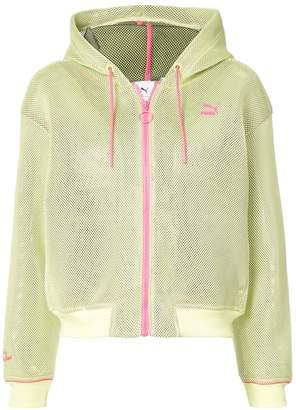 Sophia Webster Puma X contrast zipped hoodie