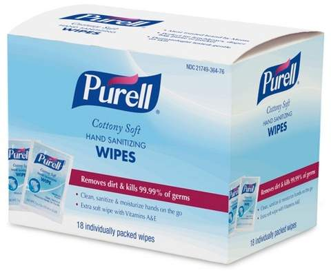Purell Cottony Soft Hand Sanitizing Wipes - 18ct