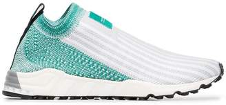 adidas Grey and Green OG Story Sock Sneakers