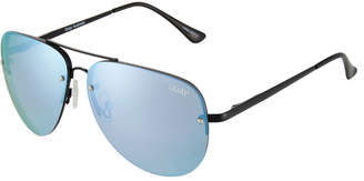 Quay Muse Aviator Stainless Steel Sunglasses
