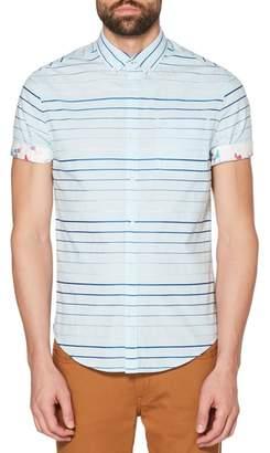 Original Penguin Satin Stripe Woven Shirt