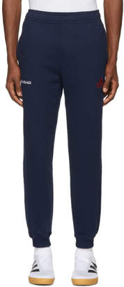 Gosha Rubchinskiy Navy adidas Originals Edition Logo Lounge Pants