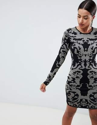Ivyrevel Jacquard Knitted Bodycon Mini Dress