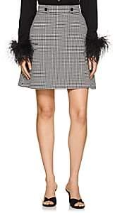 Barneys New York Women's Houndstooth A-Line Skirt-Black